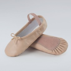 Pink Basic Leather Ballet Shoes